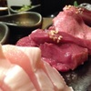 もつ焼き かまや - 料理写真:15分以内に食べる!超新鮮な肉刺し4種盛合せ