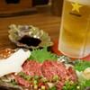 炭火焼やきとり喜界 - 料理写真:熊本から直送の馬刺し(不定期)