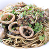 トラットリア ジラソーレ - 料理写真:牡蛎とヤリイカの軽いイカスミソースのスパゲッティ