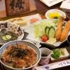 川うめ - 料理写真:川うめ丼 お得セット…\3,150 川うめ丼・エビフライ・酢の物・うまき・漬け物・肝吸