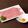 焼肉チャンピオン - 料理写真:大人気のざぶすき!軽く炙った希少部位ざぶとんを軽く炙り、卵と一口ごはんでお召し上がりください。