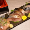 ごっつり - 料理写真:八戸前沖さばの三種盛り。当店の一番人気です!