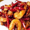龍門 - 料理写真:有頭エビの山椒ピリ辛炒め