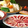 観世水 - 料理写真:自慢の鍋 鴨なべ   竹筒つくね 季節野菜 鴨正肉 うどん