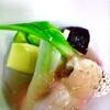 馳走侘助 - 料理写真:春のコースから、伝助穴子の炙りと春野菜の塩ポン酢ジュレがけ
