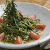 お箸BARおれお - 料理写真:おれおで一番人気!茶そばのペペロンチーノ。是非お試しあれ(^^)