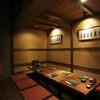 炙屋 十兵衛 - 内観写真:各界有名人にも人気の掘りごたつ式個室(小)8~10名様でご利用下さい