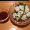 錦 - 料理写真:夏はよく肥えた鱧落としを特製梅肉タレでどうぞ