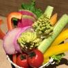 ラッツダイニング - 料理写真:毎月旬の野菜をたっぷり盛り付けたバーニャカウダ。中には珍しいお野菜も♪Lad's特製のバーニャソースをつけて召し上がれ♪