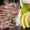 恵比寿さばと鶏白湯スープ炊き餃子 天神酒場ぬくぬく家 - 料理写真:博多ではおなじみのサバのお刺身!当店のごまサバは一味も二味も違います!!