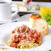 Coboカフェ - 料理写真:ボリューム感のある『特製ミートソース生パスタランチ』