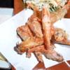 浜焼太郎 - 料理写真:岩塩付甘海老のから揚げ