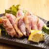 楽 - 料理写真:赤鶏ももの激レア焼き