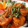熱帯食堂 - 料理写真:有頭の大海老に絡んだチリソースが・・!至福の一時・・・