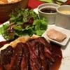 ル・プレヴェール - 料理写真:ランチの定番。牛ハラミのステーキランチです。コーヒーor紅茶、パン、プチデザートも付いて1200円(税込)です。