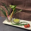 炭火焼やきとり喜界 - 料理写真:地元狛江産の新鮮でかつ無農薬野菜を使った一品です。オリジナルのディップでどうぞ。