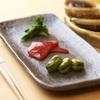 串揚げ 依知川 - 料理写真:前菜、空豆、パプリカ、菜花。