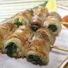 駒八 - 料理写真:行者にんにくの豚バラ串焼き