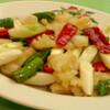 香港園 - 料理写真:紋甲イカと長葱の辛子炒め