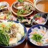 ととや一 - 料理写真:淡路の鱧しゃぶと琵琶湖鮎塩焼きコース