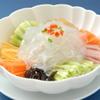 永利 - 料理写真:板春雨に野菜の背ゴマ辛酢ソースかけ