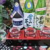 かっぱ亭 - ドリンク写真:秋田の地酒 飲み比べ