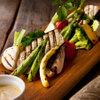 THE DAD BOD - 料理写真:畑の野菜グリル~炭塩/からすみ風EGG/バーニャカウダソース~1,500円