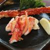 横浜瀬里奈 ステーキドーム - 料理写真:たらば蟹の鉄板焼ステーキ 盛り付け