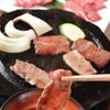 馬春楼 - 料理写真:溶岩プレートで焼く、桜焼肉。