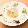 ル クロ - 料理写真:オープンから定番の生ウニのムース 焼き茄子のラグー 温度玉子のソース