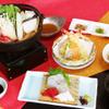 味喰笑 - 料理写真:みささぎ御膳2,500円(税込)三種盛・小鉢・お造り・天婦羅・小鍋(4種類から選べます)・ご飯・コーヒー