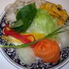 レストラン ロダン - 料理写真:しゃぶしゃぶのお野菜。 色とりどりでステキでしょう。
