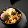 アンパスカフェ - 料理写真:アフォガートパフェ600円(税別)バニラとチョコアイスに、世界中から厳選した豆を使用したエスプレッソをたっぷりと注ぐ贅沢スイーツ。