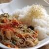 SEO - 料理写真:SEOのランチ 韓国のオリジナルチャプチェ定食 マシソヨ。。。^^