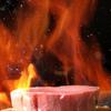 鉄板焼 集 - 料理写真:目の前で繰り広げられるシェフの妙技に見とれてしまいます。