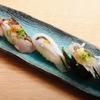 ときすし - 料理写真:春三昧 (ボイル蛍烏賊酢味噌・鰆の炙り・サヨリ 柚子塩・白魚 ネギしょうが・のれそれ うずらのせ)