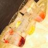 ノンカフェ - ドリンク写真:イタリアンソーダはカシス・パッションフルーツ・ピンクグレープフルーツの3種。