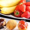 創作串揚 つだ - 料理写真:バナナ、桜餅、イチゴなどのデザートも串揚げに