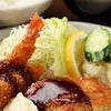 とんかつオゼキ本店 - 料理写真:ボリュームを少し控えめにした『A.ミニヒレ&エビフライ定食』