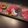 石垣牛 MARU - 料理写真:石垣牛三種盛り、イチボ、カイノミ、フランク。