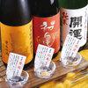 大漁旗 - ドリンク写真:【人気の日本酒をとことん楽しむ♪】日本酒3種飲み比べ