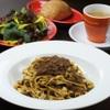 La Bitta - 料理写真:ランチセット(契約農家直送の有機野菜、自家製フォカッチャ、自家製生パスタ、有機コーヒー)