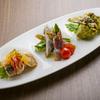 パラディッソ - 料理写真:女性シェフがつくり出す『日替りアンティパスト3種盛り合わせ』