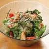 ほたる - 料理写真:ほたるサラダです。オリジナルのゴマドレッシングでどうぞ!!