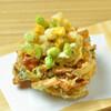 蕎麦切 砥喜和 - 料理写真:夏は空豆とトウモロコシのかき揚げをどうぞ
