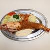 赤丸食堂 - 料理写真:赤丸ドラゴン(超特大エビフライ)980円