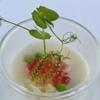 貴匠桜 - 料理写真:半田めんと赤エビのクリュ めんつゆのエスプーマ