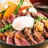 ごちそうお肉ビストロ くう海 - 料理写真:南魚沼市本気(マジ)丼 肉好きのためのステーキ丼 ¥1680