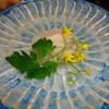 小料理 久原 - 料理写真:白身魚の薄造り 自家製ポン酢