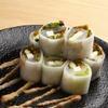 近畿大学水産研究所 - 料理写真:平目の生春巻き 梅胡麻ソース